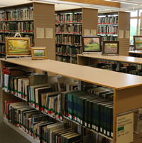 photo of books in the Library
