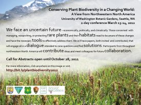 Plant Biodiversity Conference 2012 announcement