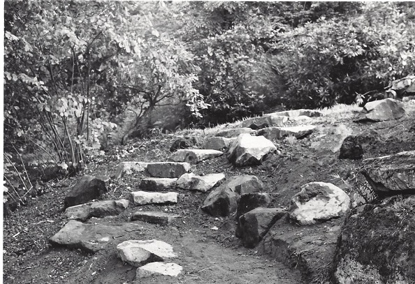 Upper portion of new steps, 7/14/1967. Photo by B.O. Mulligan.