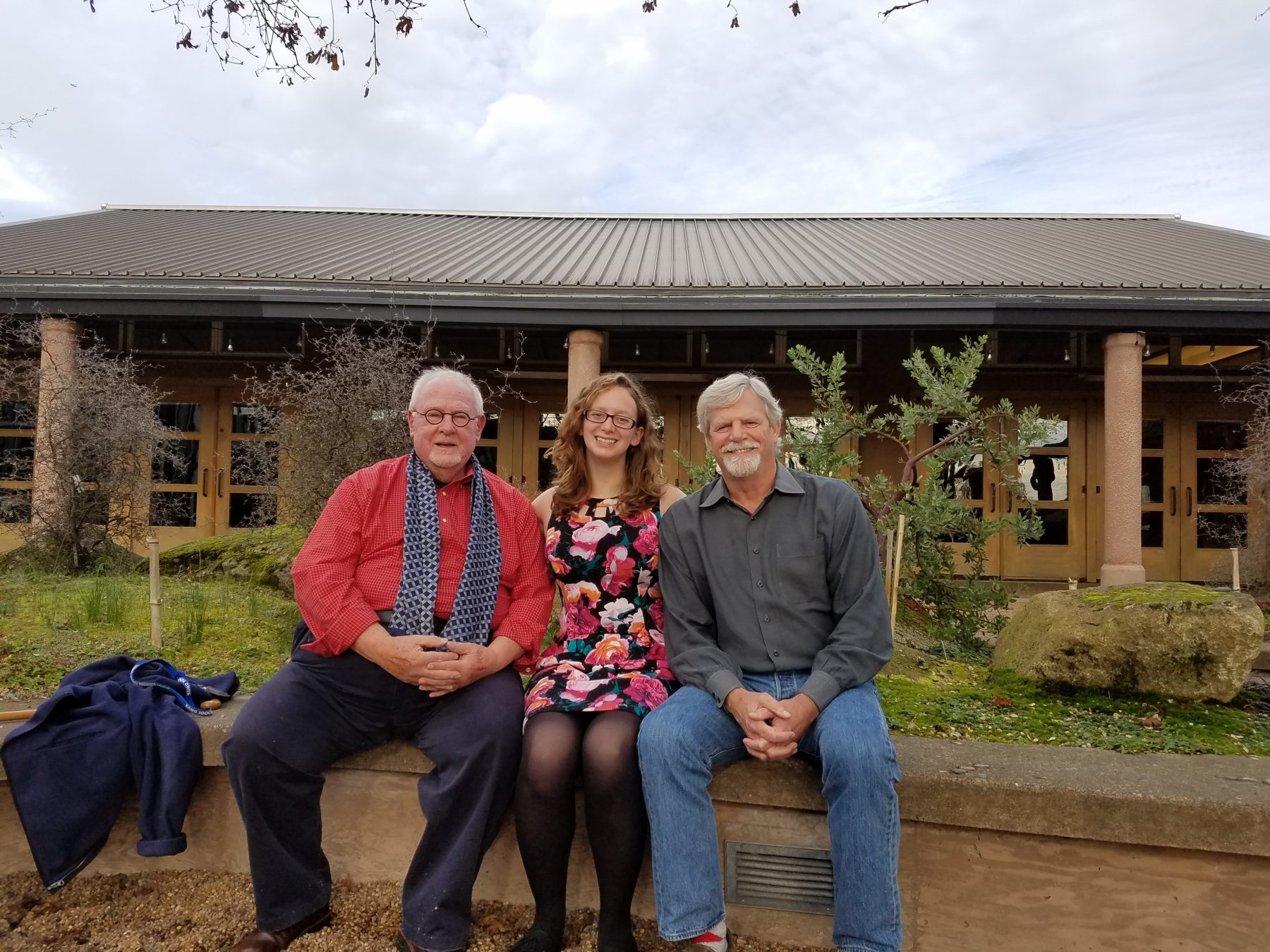Pictured are Dr. John A. Wott, Director emeritus, UW Botanic Gardens; Kelsey Taylor, recipient; and Fred Hoyt, Interim Director, UW Botanic Gardens.