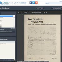 Screenshot of BHL interface