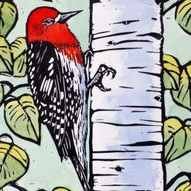 Molly Hashimoto's woodblock print