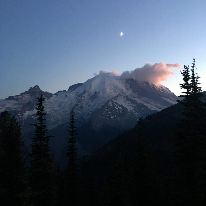 Tahoma (Mt. Rainier) at dusk (Photo: Maya Kahn-Abrams)